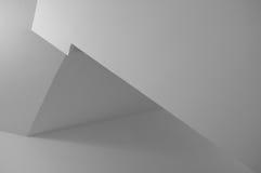 Minimalistic Zwart-wit Geometrische Achtergrond Stock Fotografie