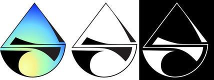 Minimalisticabstractie van een halve cirkel en een van het bedrijfs driehoeksontwerp embleem Stock Fotografie