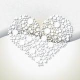 Minimalisticachtergrond met wit hart Royalty-vrije Stock Foto