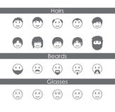 Minimalistical Male Emoticons Stock Photos