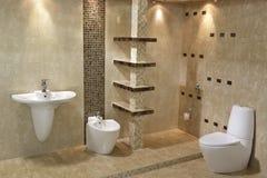 Minimalistisch badkamersbinnenland Royalty-vrije Stock Foto