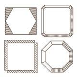 Minimalistisch contouretiket Stock Afbeeldingen