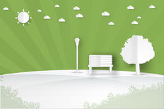 Minimalistisch landschaps openbaar park Royalty-vrije Stock Foto's
