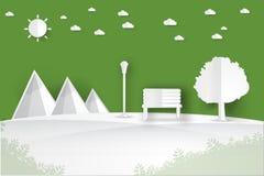 Minimalistisch landschaps openbaar park Stock Foto