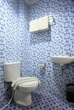 Minimalistisch Toilet Stock Fotografie