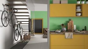 Geel De Keuken : Minimalistische moderne keuken met gezond ontbijt woonkamer en