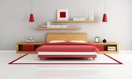 Minimalistische slaapkamer Stock Foto's