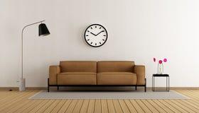 Minimalistische woonkamer Stock Afbeeldingen