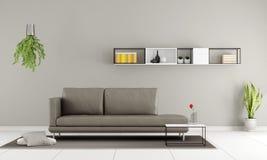 Minimalistische woonkamer Stock Afbeelding