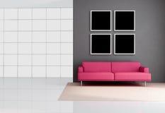 Minimalistische zitkamer Royalty-vrije Stock Fotografie
