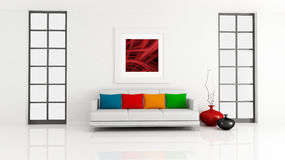 Minimalistische zitkamer stock illustratie