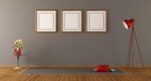Minimalisty pusty pokój royalty ilustracja