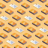 Minimalisty wzór, kreatywnie tło z isometric książkami, literatura i poezja, ilustracji