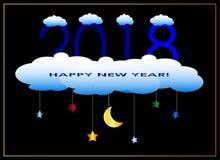 Minimalisty zaproszenia partyjny 2018 kartka z pozdrowieniami Obraz Royalty Free