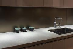 Minimalistyczna kuchnia Zdjęcie Stock