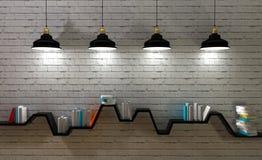 Minimalistyczna półka Zdjęcie Stock