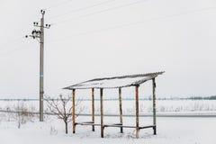 Minimalistyczna zima w Zaporoskim obraz royalty free