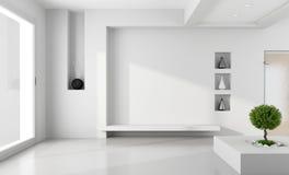 Minimalistyczny biały pokój Zdjęcie Stock