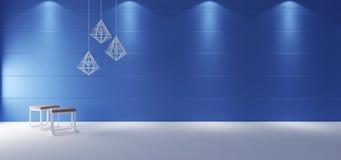 Minimalistyczny izbowy wnętrze Fotografia Royalty Free
