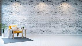 Minimalistyczny pokój obrazy stock