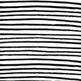 Minimalistycznych horyzontalnych lampasów czarny i biały tło Zdjęcia Stock