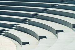 Minimalizmów siedzenia I schodki Nowożytny amfiteatr fotografia stock