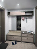 Minimalizmu korytarza wnętrze, 3d odpłaca się Fotografia Royalty Free