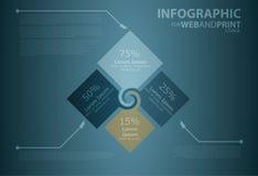 Minimallistic Infographic Fotografía de archivo libre de regalías