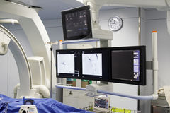 Minimally invasive surgery. This is the minimally invasive operating room equipment Stock Image