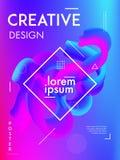 Minimalna kolorowa gradientowa tło pokrywa Nowożytnego plakatowego projekta abstrakcjonistyczny fluid kształtuje skład royalty ilustracja