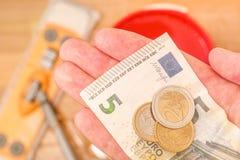Minimalna pensja w Europa Zdjęcia Stock
