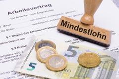 Minimalne pensje w Niemcy obrazy stock