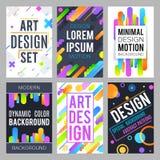 Minimalnego projekta wektorowy tło z abstrakcjonistycznymi dynamicznymi kolorów kształtami i modnym geometrycznym wzoru wektoru s ilustracja wektor