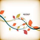 Minimalnej jesieni kwiecisty abstrakcjonistyczny tło Zdjęcie Stock