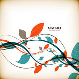 Minimalnej jesieni kwiecisty abstrakcjonistyczny tło Fotografia Royalty Free