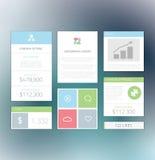 Minimalni ewidencyjni graficzni płascy świezi biznesowi elementy  Zdjęcie Stock