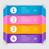 Minimalni kolorowi infographics elementy Zdjęcia Stock