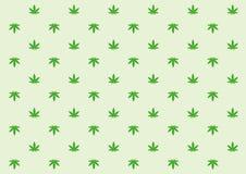 Minimalni marihuana liścia wzory royalty ilustracja