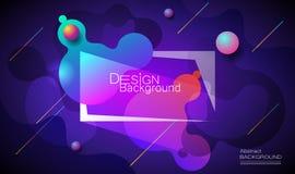 Minimalny abstrakta 3d kształta fluid i ciekłego gradientu kolorowy tło dla układu, sztandar, plakat, szablon, ulotka ilustracji
