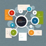 Minimalny Infographics elementów projekt Abstrakt okrąża infographic szablon z miejscem dla twój zawartości i obciosuje Obraz Stock