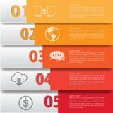 Minimalny infographics wektor Obrazy Stock