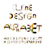 Minimalny kreskowy projekta abecadło, chrzcielnica, typeface Obraz Stock