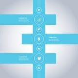 Minimalny linia czasu projekt - Infographic elementy z ikonami Zdjęcia Stock