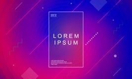 Minimalny neonowy geometryczny tło Projektów plakaty ilustracja wektor