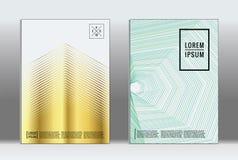 Minimalny plakat Wektorowa geometryczna pokrywa Obraz Stock