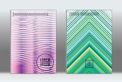 Minimalny plakat Wektorowa geometryczna pokrywa Obraz Royalty Free