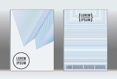 Minimalny plakat Wektorowa geometryczna pokrywa Zdjęcie Royalty Free