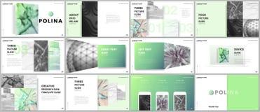 Minimalny prezentacja projekt, portfolio wektorowi szablony z elementami na białym tle Wielocelowy szablon dla royalty ilustracja