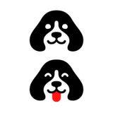 Minimalny psi logo royalty ilustracja