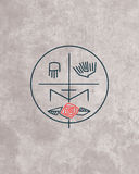 Minimalny religijny symbol ilustracji